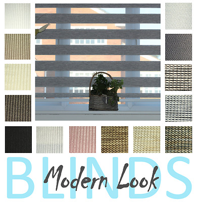 SAMPLES UK Day Night Zebra Roller Blinds-Made to Measure-Best Quality-18Colours,