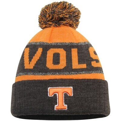 4851e9101df Tennessee Volunteers Top of the World Youth Below Zero Cuffed Knit Hat With  Pom