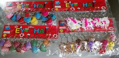 Job Lot Of 48 Mix Keyrings Bag Charm Mixed Designs Wholesale Resale