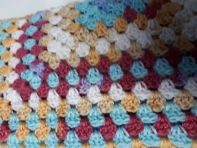 Hand Crocheted Baby Blanket In Multi-colours #29