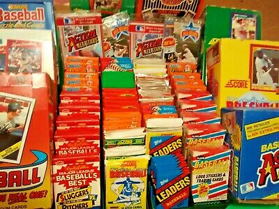 Huge Lot 300 Vintage 30 Yr Oldwax Box Era Baseball Card Packs 12 Un Opened
