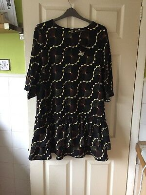 Bnwt Stunning Ladies Black Pale Pink Lace Dress Size 20 By So