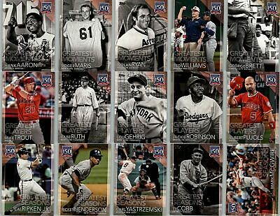 2019 Topps 150 Years Of Professional Baseball Singles U Pick Complete Your Set