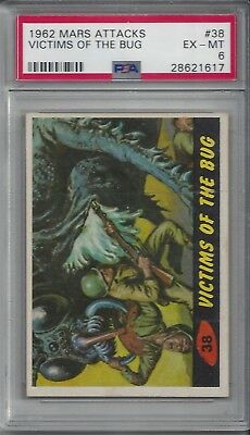 1962 Mars Attacks #38 Victims of the Bug PSA 6