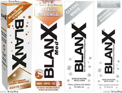 BlanX Classic/Intensive Stain Removal/Advanced Whitening NonAbrasive Toothpaste