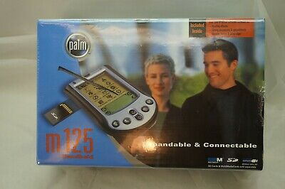PALM PDA M125 FACTORY SEALED 2001 HANDHELD AOL EMAIL EARTHLINK VINTAGE NEW MIB d