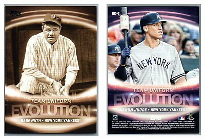 2019 Topps Series One Evolution Of Insert Singles U Pick Complete Set