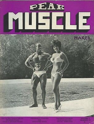 Vintage UK Peak Muscle Maker Bodybuilding Magazine Vol 1 No 12 Albert Beckles