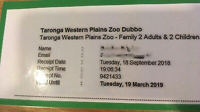 Taronga Western Plains Zoo Dubbo Family Tickets Pass