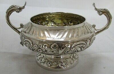 Fine Antique Georgian Sterling silver sugar bowl, 1825, 333 grams