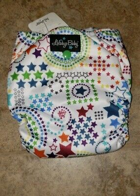 Wish Stars Lalabye Baby One SizeCloth Diaper (Snap) NWT
