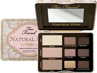 Too Faced Natural Eyes Palette 100% Authentic Full Size (No Box)