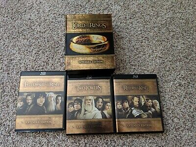 Lord of The Rings Extended Edition Trilogy Box Set 15 Blu-ray Disc