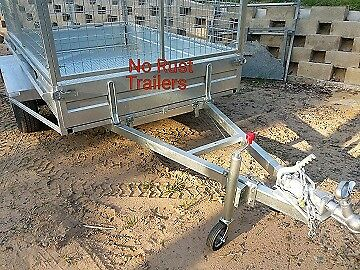8 x 5 One Ton, galvanized Trailer with cage.