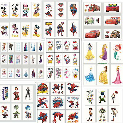Childrens Temporary Tattoos Kids Party Favors Bag Fillers Stickers