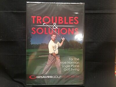 Graves Golf Academy Troubles & Solutions Moe Norman 2-Part DVD New Sealed