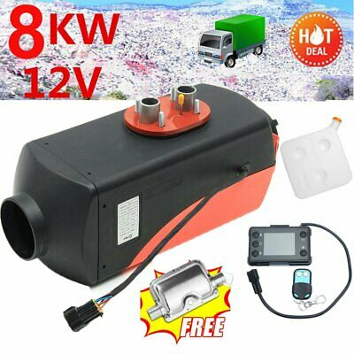 12V 8KW Diesel Air Heater Caravan RV +Silencer+ Remote Control+Oil ExtractorN S@