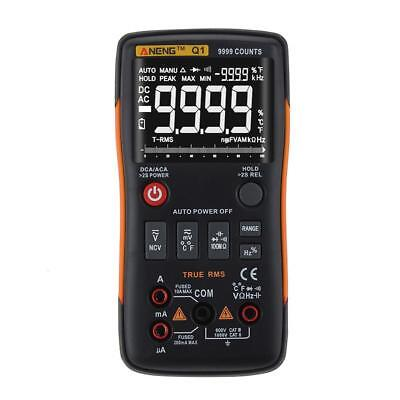 ANENG Q1 True-RMS Digital Multimeter Button 9999 Counts with Analog Bar P4PM