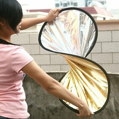2 in 1 Light Reflector Portable Collapsible Disc Photography Reflector RE