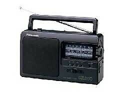 Panasonic RF-3500E9-K  radio Portable Analog Black RF3500E9K - Radio Sintonizado