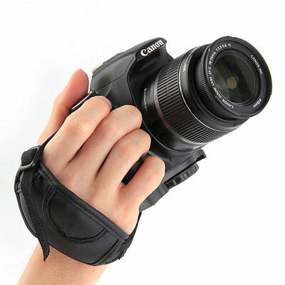 New PU Leather Camera Hand Wrist Grip Strap For SLR DSLR CamerasES