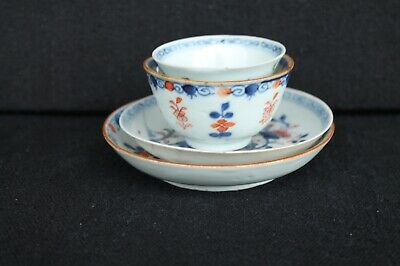 Two Teabowls and saucers Qianlong and Kangxi period Chinese export