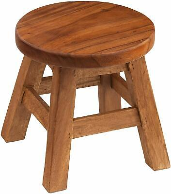 Round Wood Footstool Rustic Child Toddler Seat Milking Stool Sofa Tea End Table