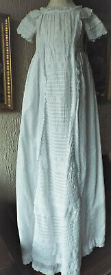 Baby Christening Gown/vintage/waterfall Front