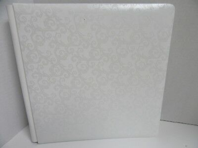 Creative Memories 12x12 Promise Wedding Album White Swirl 14 White Pages