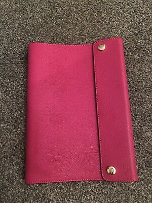 Mulberry - Pink Leather Notebook Cover Agenda Holder - 100% Genuine - A5