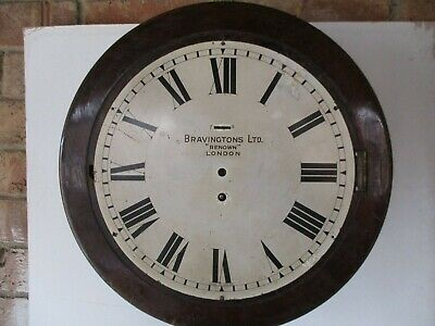 "12"" Dial Clock Case And Parts For Spares Or Repair"
