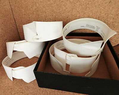 6 vintage shirt collars detachable size 15 16 in box stiff starched