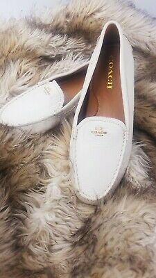 caef37093d1 COACH MARY LOCK Up Beechwood Flat Loafer Driving Shoes ~Sz 8~ New ...