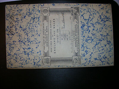 """very old OS EDWARD STANFORD 1"""" Map Sheet 176 BECCLES LOWESTOFT NORFOLK c.1900"""
