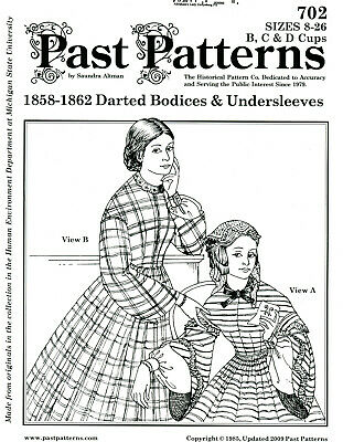 DAY BODICE SEWING Past Pattern Historical Civil War Victorian Reenactor  Usew 702
