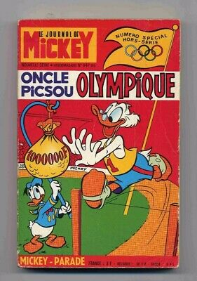 Mickey-Parade 847 BIS Oncle Picsou Olympique Hachette 1968 BE