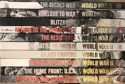 WORLD WAR II Time-Life Books Series, Lot of 10 Books, Hardcovers,Vintage History