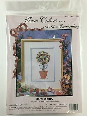 True Colors Ribbon Embroidery Kit Floral Topiary SRK0008 New Old Stock