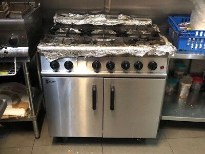Parry P6B0 6 burner natural gas cooker/oven, Commercial Catering, tested, clean