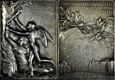 FRANCE 1900 PARIS EXPOSITION UNIVERSELLE INTERNATIONALE plaquette by Oscar Roty