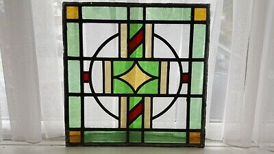 Leaded light stained glass windows X 4