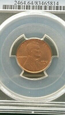1913 D Lincoln Cent Wheat Penny pcgs ms 64 red
