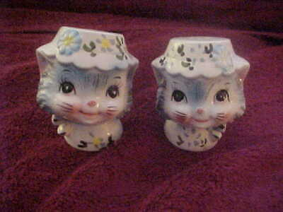Vintage Lefton Japan Miss Prissy Salt And Pepper Shakers #1511 - Excellent