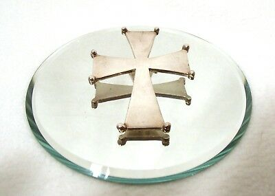 Big & Beautiful Byzantine Sterling Silver Cross Mma 25.3 Gms. / Mexico