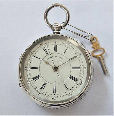 1898 Silver Fusee Chronograph Centre Second Pocket Watch Richardson Coventry