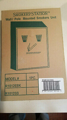 Smokers Station Rubbermaid Stainless Steel R1012SS Wall Pole Mounted (NEW)