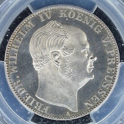 Thaler 1861-A PCGS MS64PL German States Prussia Prooflike looks like a Proof