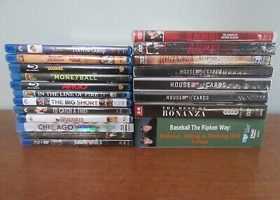 Lot of 12 Blu-ray Movies; Lot of 7 DVD TV Series;  and Baseball Cal Ripken DVD
