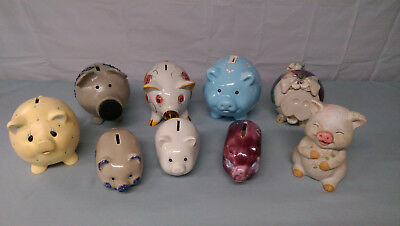 Collectible Pig Piggy Banks LOT of 9