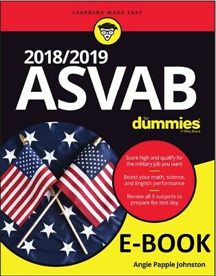 PDF Johnston Angie Papple-Asvab For Dummies 2018/ 2019 Not Physical Book